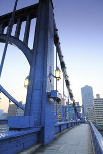 清洲橋夕景の写真素材 [FYI04800194]