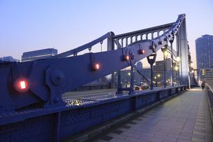 清洲橋夕景の写真素材 [FYI04800196]