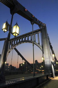清洲橋夜景の写真素材 [FYI04800198]