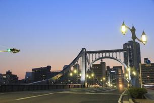 清洲橋夜景の写真素材 [FYI04800199]