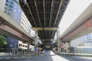 首都高速の清洲橋出口の写真素材 [FYI04800273]