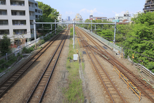 JR東海道線と京浜東北線の線路の写真素材 [FYI04800328]