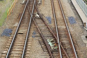 JR東海道線の線路の写真素材 [FYI04800331]