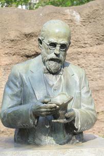 大森貝塚遺跡庭園のモース博士像の写真素材 [FYI04800339]