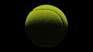Tennis ball on black background.のイラスト素材 [FYI04800378]