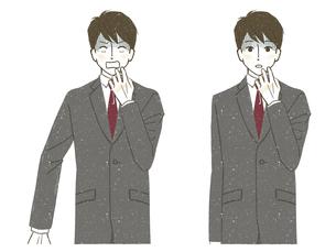 ショックを受けているスーツ姿の男性のイラスト素材 [FYI04800551]