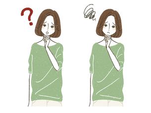 疑問や悩みを持つ女性のイラスト素材 [FYI04800580]