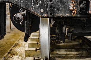 蒸気機関車の機械室の写真素材 [FYI04801135]