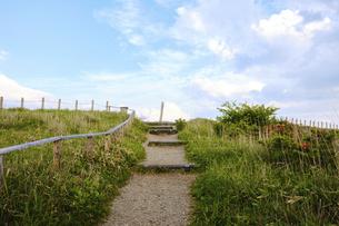 高ボッチ高原の夕暮れの景色 長野県塩尻市の写真素材 [FYI04801274]