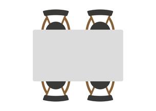 四角 テーブルセット イラストのイラスト素材 [FYI04801954]