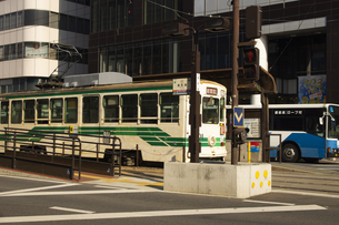熊本市電の写真素材 [FYI04801998]