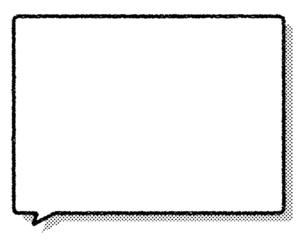 手描き吹き出しとドット影 セットのイラスト素材 [FYI04802187]