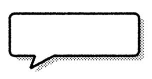 手描き吹き出しとドット影 セットのイラスト素材 [FYI04802188]