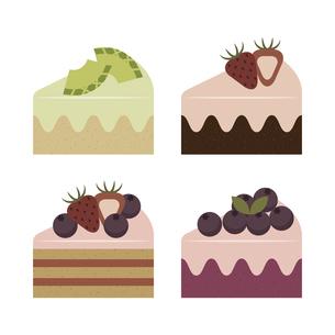 いろんなケーキ イラストのイラスト素材 [FYI04802711]