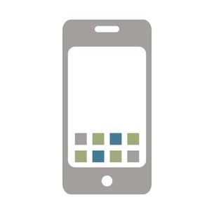 シンプルなシルバーのスマホのイラストのイラスト素材 [FYI04802907]