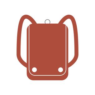 スタンダードな赤いランドセルのイラスト素材 [FYI04802910]