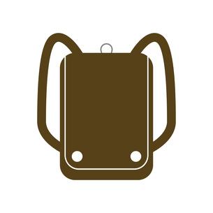 おしゃれな茶色いランドセルのイラスト素材 [FYI04802913]