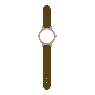 茶色のかわいい腕時計のイラスト素材 [FYI04802921]