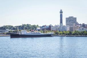 横浜大桟橋から山下公園の写真素材 [FYI04802959]