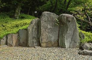 小石川後楽園・屏風岩の写真素材 [FYI04803462]