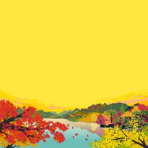秋の紅葉のイラスト素材 [FYI04803481]