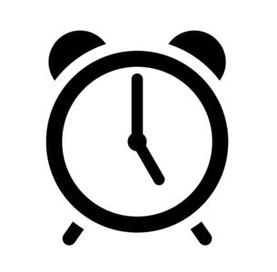 目覚まし時計のアイコン 5時のイラスト素材 [FYI04803904]