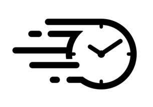 速い時間の流れのアイコン スピードある時間の流れのアイコンのイラスト素材 [FYI04803905]