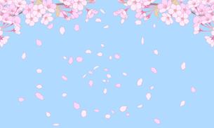 桜のイラスト 背景素材のイラスト素材 [FYI04804047]