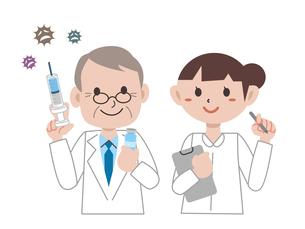 ワクチン注射のイラスト素材 [FYI04804515]
