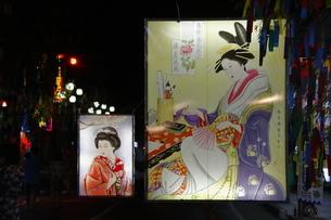 8月 湯沢の七夕絵どうろうまつりの写真素材 [FYI04804619]