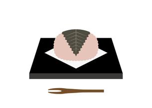 さくら餅 皿 イラストのイラスト素材 [FYI04804621]