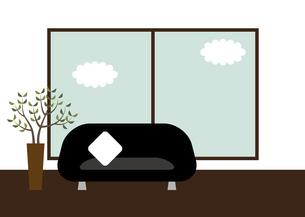 リビング 部屋 ソファー 窓 イラストのイラスト素材 [FYI04804844]