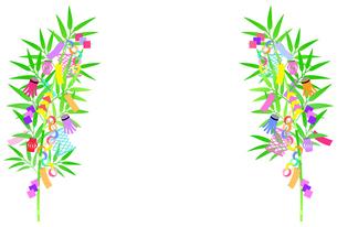 七夕の笹飾りのイラスト 【左右対称】のイラスト素材 [FYI04805408]
