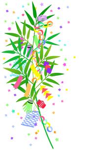 七夕の笹飾りのイラストのイラスト素材 [FYI04805411]