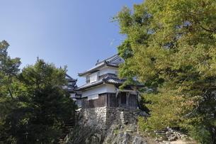 備中松山城、天守と二重櫓。の写真素材 [FYI04805647]