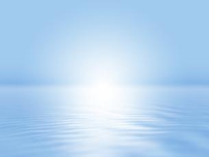波打つ明るい空間ときらめく光芒のイラスト素材 [FYI04805726]