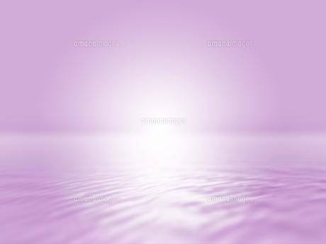 波打つ明るい空間ときらめく光芒のイラスト素材 [FYI04805727]