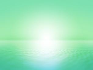 波打つ明るい空間ときらめく光芒のイラスト素材 [FYI04805728]