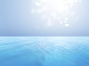 波打つ明るい空間ときらめく光芒のイラスト素材 [FYI04805730]