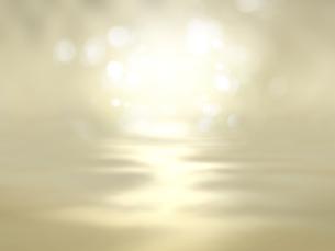 波打つ明るい空間ときらめく光芒のイラスト素材 [FYI04805731]