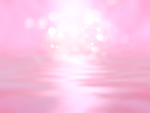 波打つ明るい空間ときらめく光芒のイラスト素材 [FYI04805732]