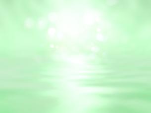 波打つ明るい空間ときらめく光芒のイラスト素材 [FYI04805733]