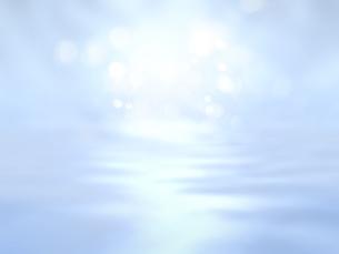 波打つ明るい空間ときらめく光芒のイラスト素材 [FYI04805734]