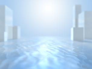オブジェを配する波打つ空間のイラスト素材 [FYI04805735]