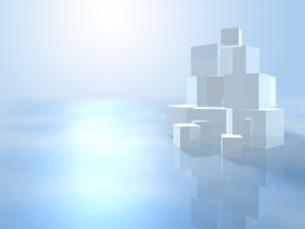 オブジェを配する波打つ空間のイラスト素材 [FYI04805737]