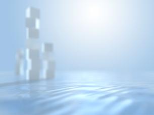 オブジェを配する波打つ空間のイラスト素材 [FYI04805738]