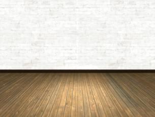 床と壁だけの簡素な空間のイラスト素材 [FYI04805849]