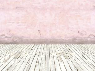 床と壁だけの簡素な空間のイラスト素材 [FYI04805850]