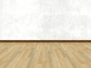 床と壁だけの簡素な空間のイラスト素材 [FYI04805851]
