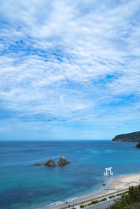 二見ヶ浦の海と青空の写真素材 [FYI04806036]